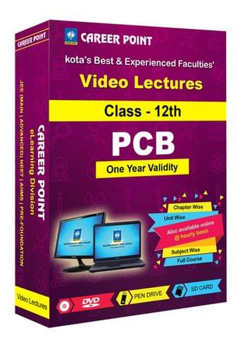 Video Lectures for NEET & AIIMS | PCB (Class 12th) | Validity : 1 Yr | Medium :Mixed Language(E & H)