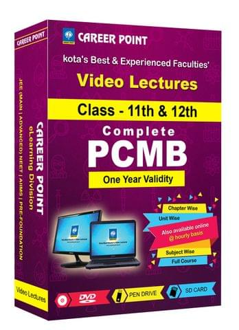 Video Lectures for JEE & NEET | PCMB (11th+12th) | Validity 1 Yr | Medium : Mixed Language (E & H)