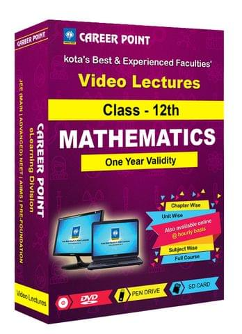 Class 12th Maths for 1 Yr Video Lectures JEE Main/Advance(Mixed Language-E/H)
