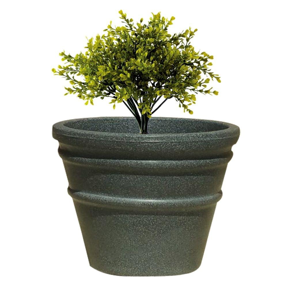 Yuccabe Italia FOX-B BR Grey Round 9 Inches Planter