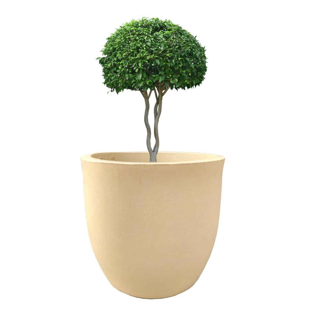 YUCCABE FOXB Pcup beige 14 Inches Planter