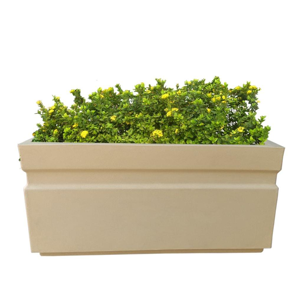 Yuccabe Italia FOX-B GT Beige Rectangular 24 Inches Planter
