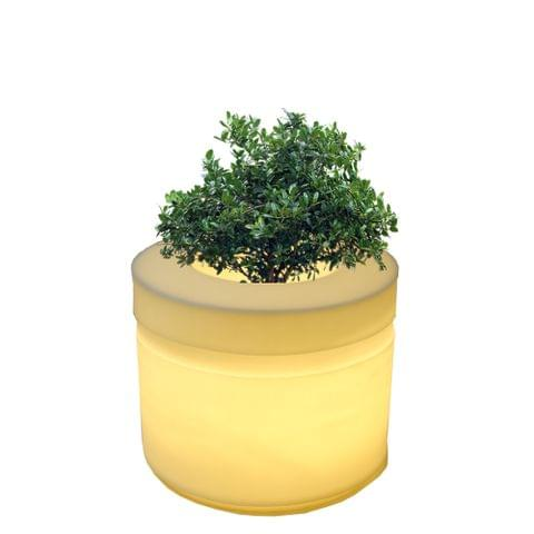 LED Cyl 24 Inches Planter