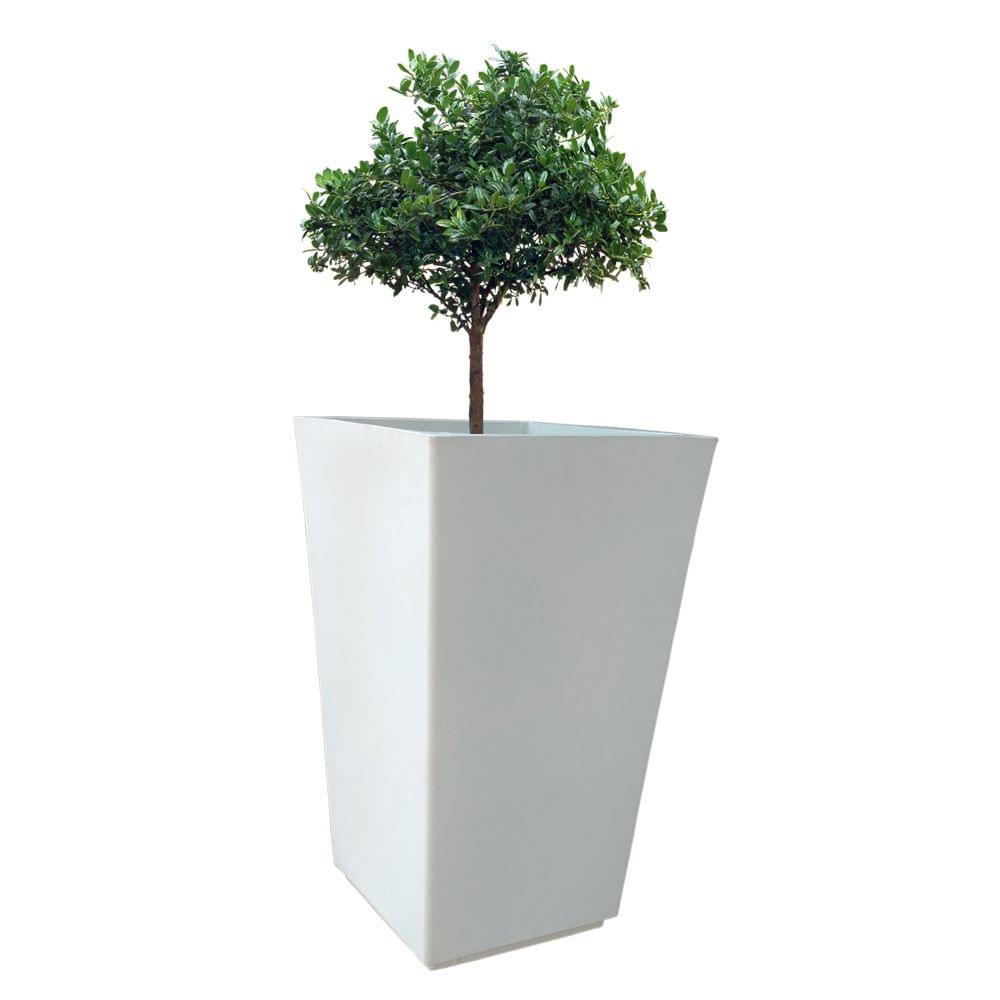 Yuccabe Italia FOX-B TK White Sqaure 18 Inches Planter