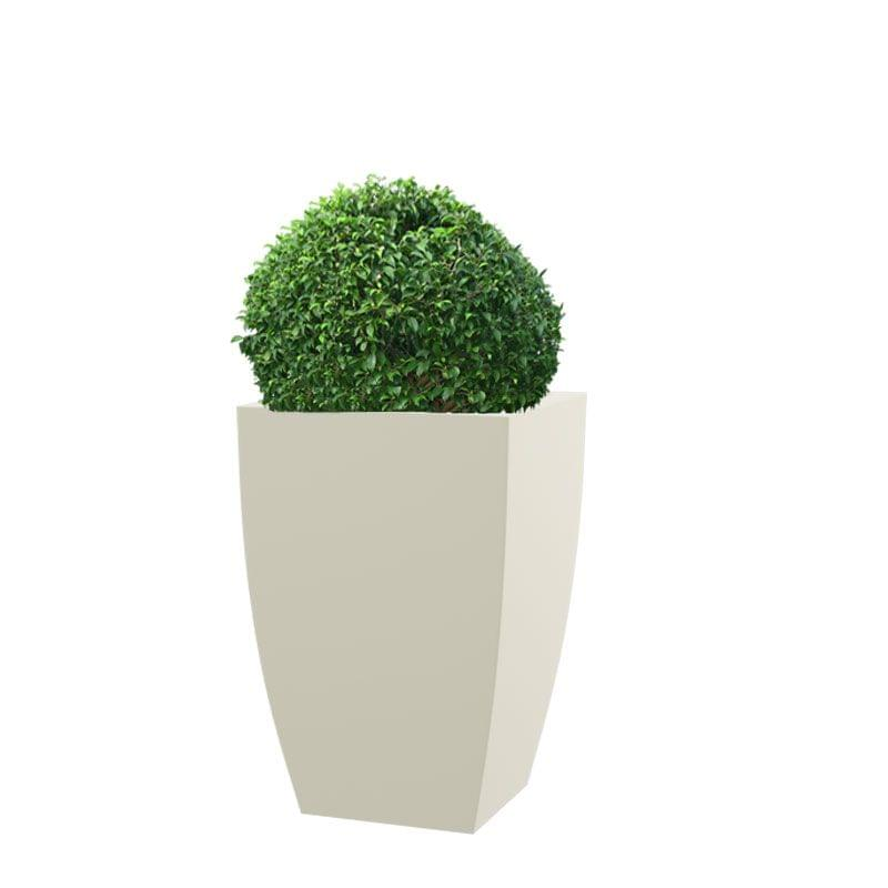 Cream White TK 24 Inches Square Planter