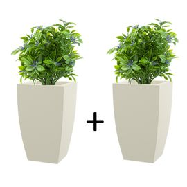 Pack of 2 Cream White TK 18 Inches Square Planter