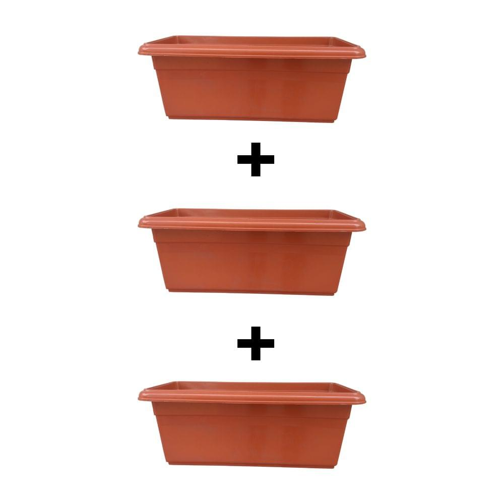 Yuccabe Italia Shera Red 24 inches Tray Planter (Set of 3)