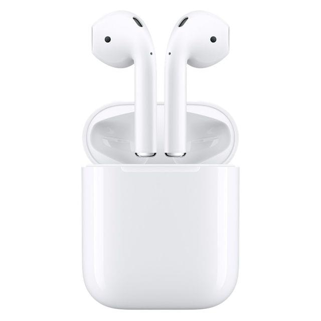 Apple AirPods - Wireless Headset with Mic (White, In the Ear)