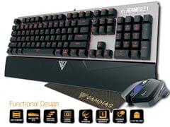 Gamdias Hermes E1 Responsive Lighting Mechanical Gaming Keyboard with Demeter E2 Optical Mouse and Nyx E1 Mouse Mat