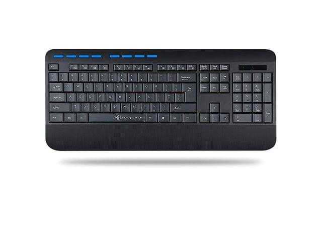 Gofreetech GFT-K001 Wireless Multimedia Keyboard, Black