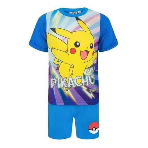 Pokemon Childrens Boys Pikachu Short Pyjamas