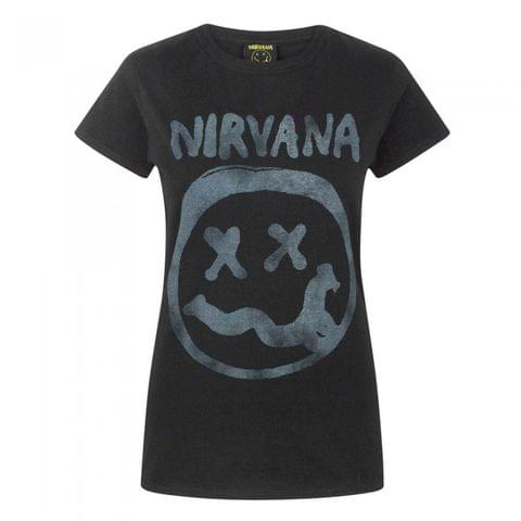 Nirvana Womens/Ladies Smiley Logo T-Shirt