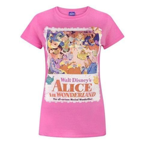 Disney Womens/Ladies Alice In Wonderland Poster T-Shirt
