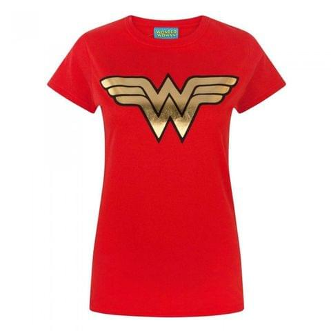 Wonder Woman Womens/Ladies Foil T-Shirt