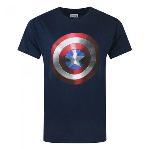 Captain America Mens Movie Shield T-Shirt
