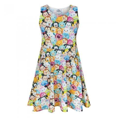 Disney Childrens/Girls Official Tsum Tsum Character Skater Dress