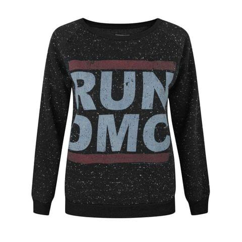 Amplified Womens/Ladies Run DMC Logo Speckled Sweater