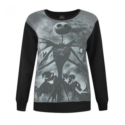 Nightmare Before Christmas Womens/Ladies Sublimation Sweater