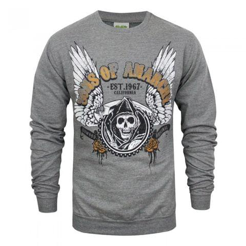 Sons Of Anarchy Mens Winged Reaper Sweater
