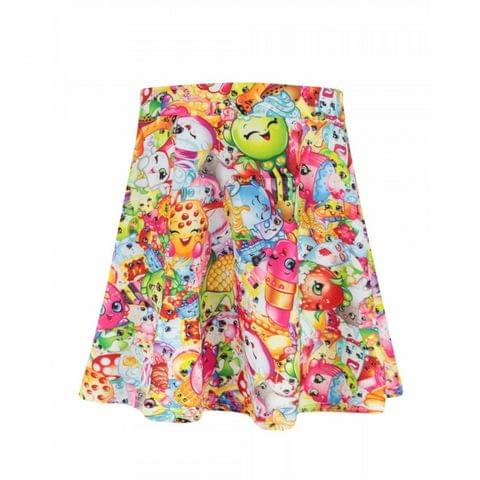 Shopkins Childrens/Girls Official All-Over Character Design Skirt