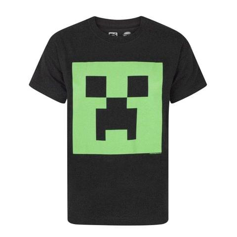 Minecraft Official Boys Creeper Glow In The Dark Face T-Shirt