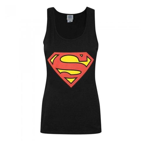Superman Womens/Ladies Shield Logo Vest