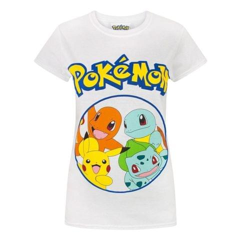 Pokemon Womens/Ladies Kanto Starters T-Shirt