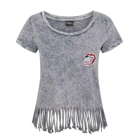 The Rolling Stones Womens/Ladies Fringe T-Shirt