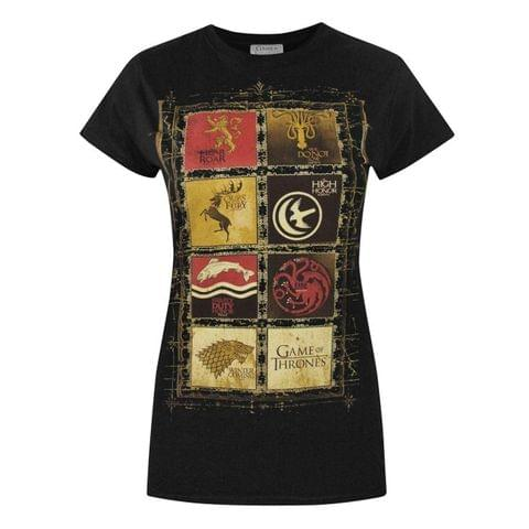 Game Of Thrones Womens/Ladies Block Sigils T-Shirt