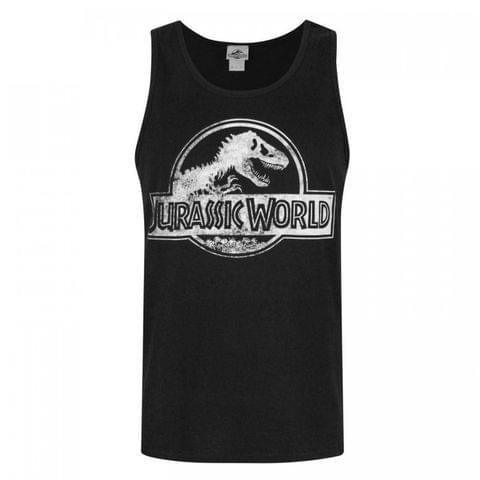 Jurassic World Mens Distressed Logo Vest