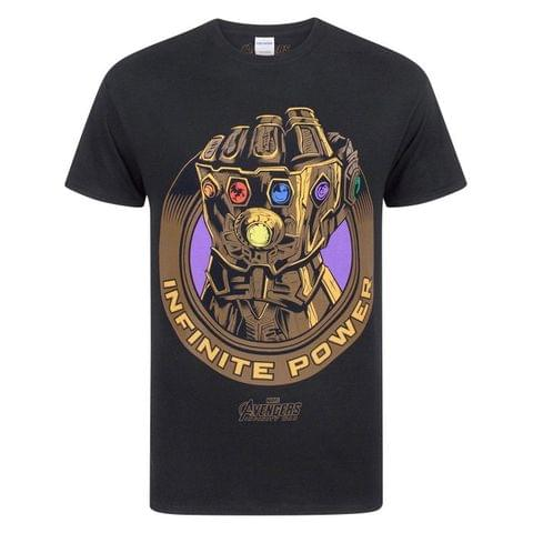 Marvel Avengers Infinity War Mens Thanos Infinity Gauntlet T-Shirt