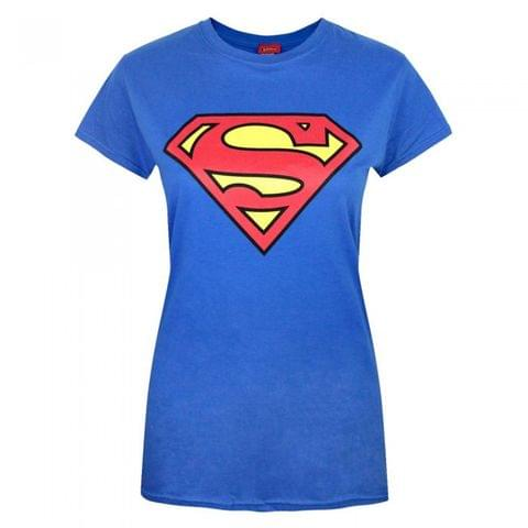 Superman Womens/Ladies Shield Logo T-Shirt