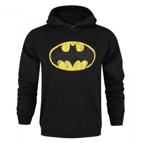 Batman Mens Distressed Logo Hoodie
