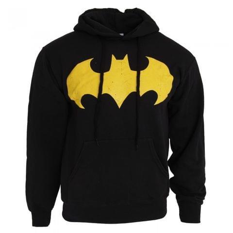 Batman Mens Bat Sign Logo Hoodie