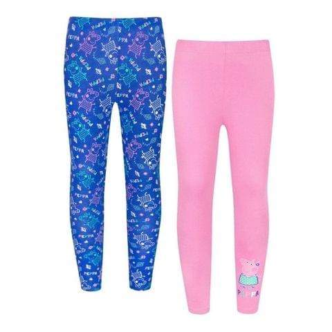 Peppa Pig Childrens Girls Leggings (Pack Of 2)