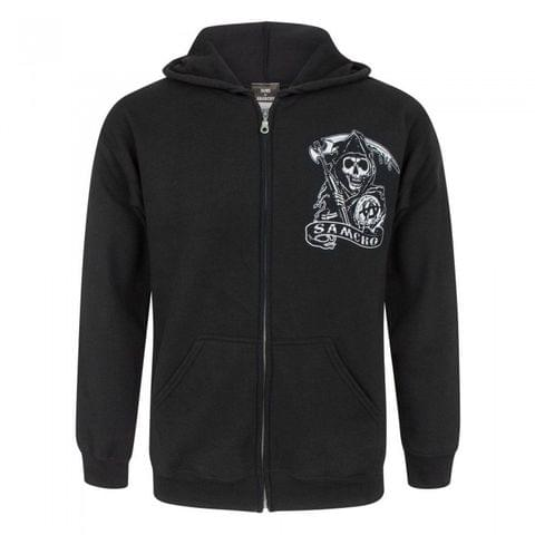 Sons Of Anarchy Official Mens SAMCRO Zip Up Hoodie