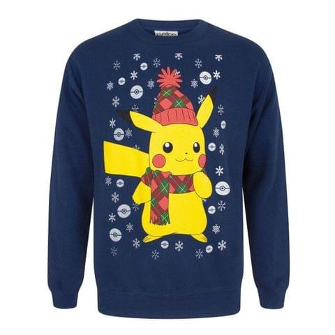 Pokemon Mens Pikachu Christmas Sweater