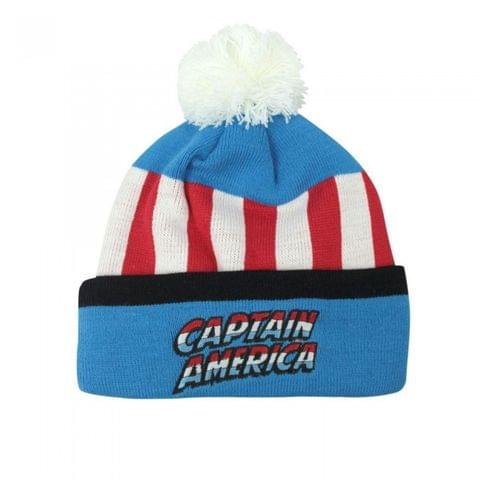 Captain America Childrens/Kids Retro Original Bobble Hat