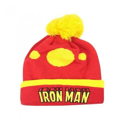 Iron Man Official Adults Unisex Retro Original Bobble Hat