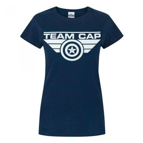 Captain America Womens/Ladies Civil War Team Cap T-Shirt
