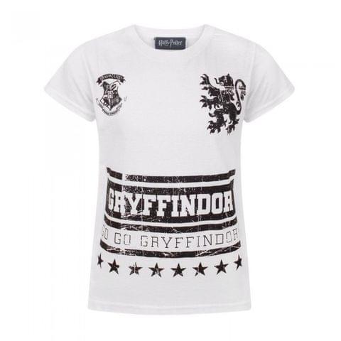 Harry Potter Childrens Girls Go Gryffindor T-Shirt
