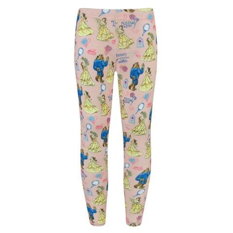 Disney Childrens Girls Beauty And The Beast Leggings