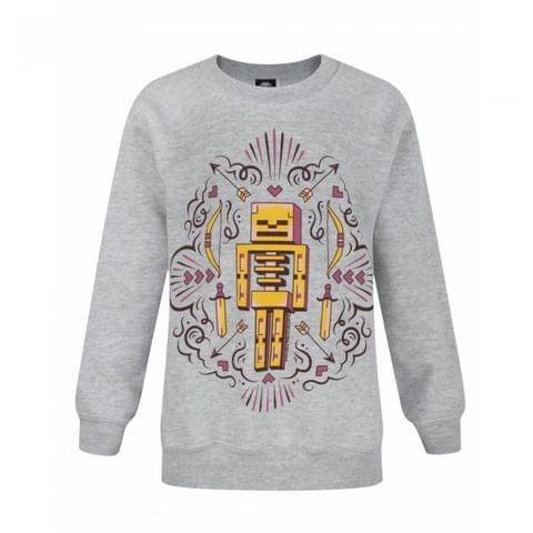 Minecraft Childrens/Girls Official Skelly Dreams Character Sweatshirt
