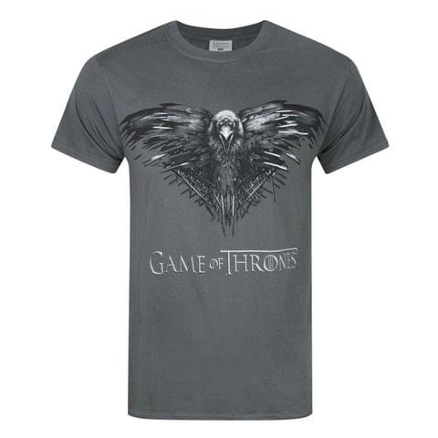 Game Of Thrones Official Mens Three Eyed Raven T-Shirt