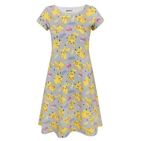 Pokemon Womens/Ladies Pikachu Short Sleeved Dress