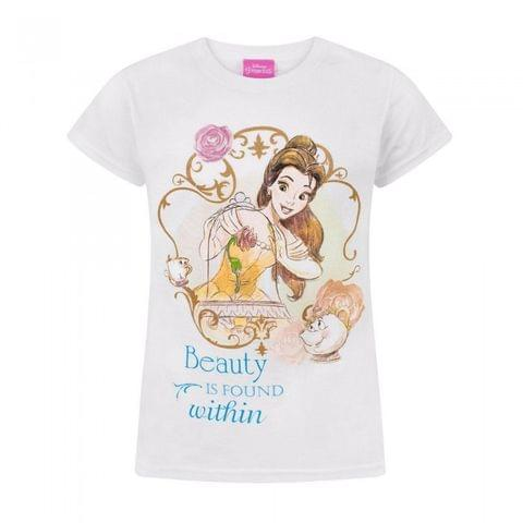 Disney Childrens Girls Beauty And The Beast Beauty Is Found Within T-Shirt
