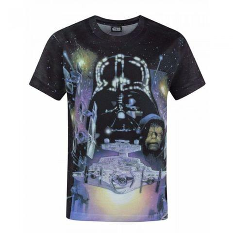 Star Wars Childrens/Boys Empire Strikes Back Characters Sublimation T-Shirt