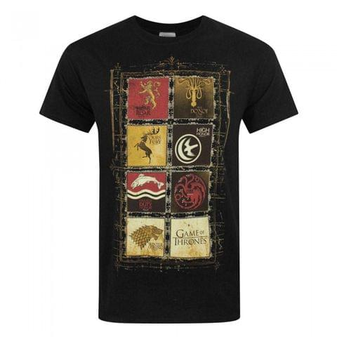 Game Of Thrones Official Mens House Panels T-Shirt
