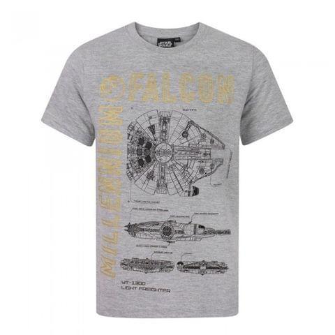 Star Wars Childrens/Boys Official Millenium Falcon T-Shirt