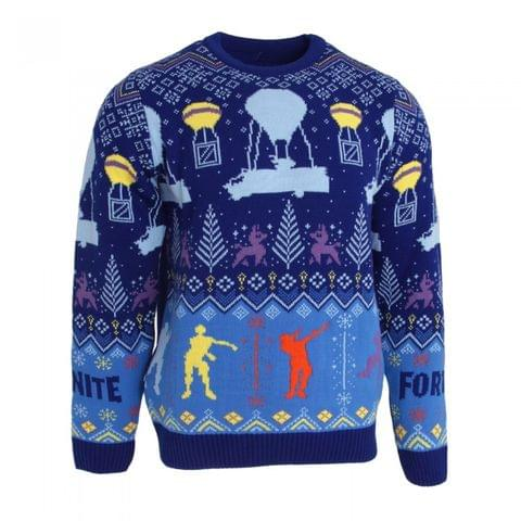 Fortnite Unisex Adults Flossing Around The Christmas Tree Knitted Jumper
